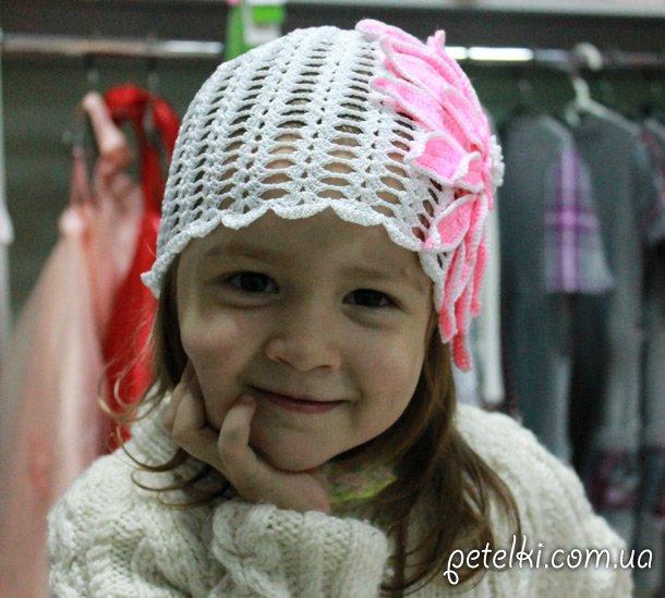 Вязание крючком летних детских шапок