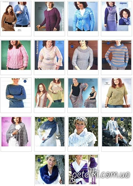Модели вязаной одежды со схемами и описаниями