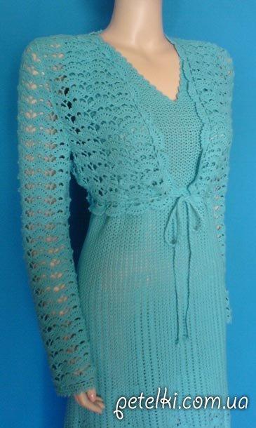 Болеро вечернее вязаное платье