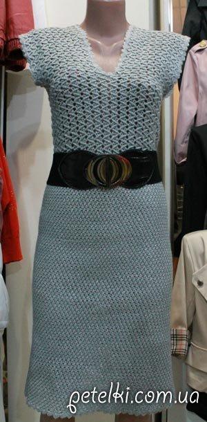 Нарядное вязаное платье с люрексом. Модель В17