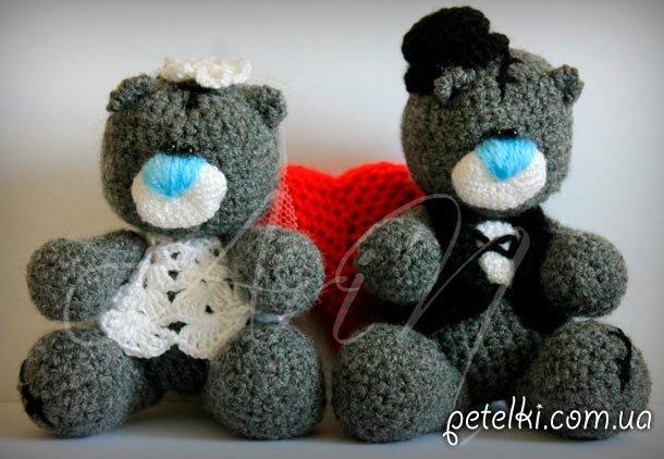Вязаные Мишки Тедди - жених и