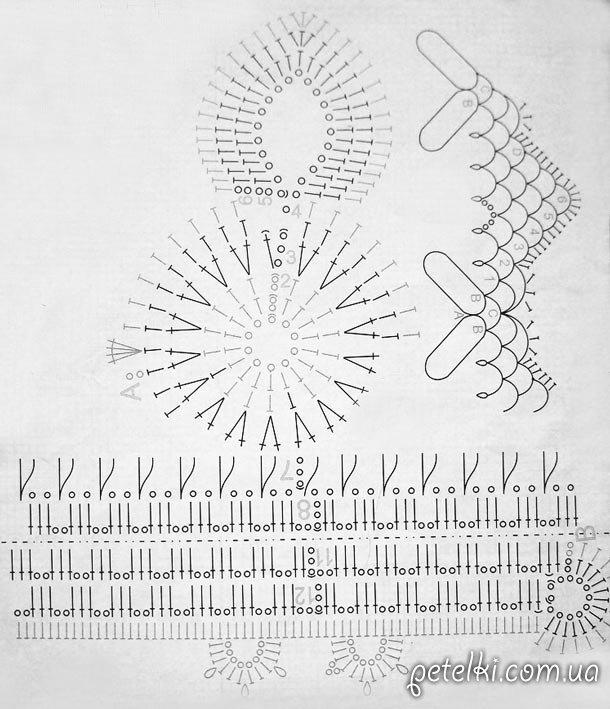 схема вязания пасхального зайчика крючком