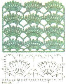 Схема ажурной кофточки