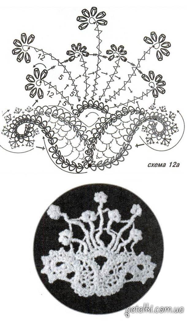 схема вязания пончо 'Морозные