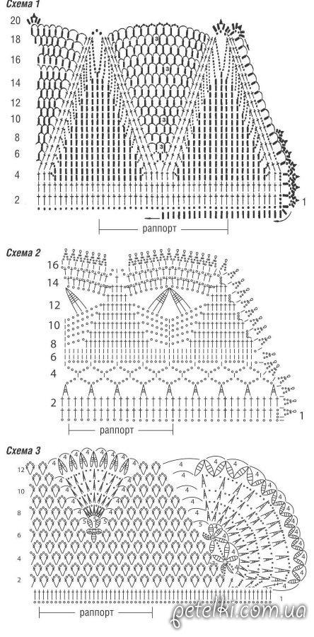 схемы ажурных воротничков крючком бесплатно