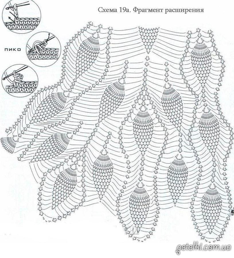 Схема вязание крючком рисунок ананас схема