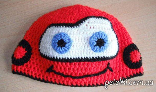 McQueen - шапка машинка