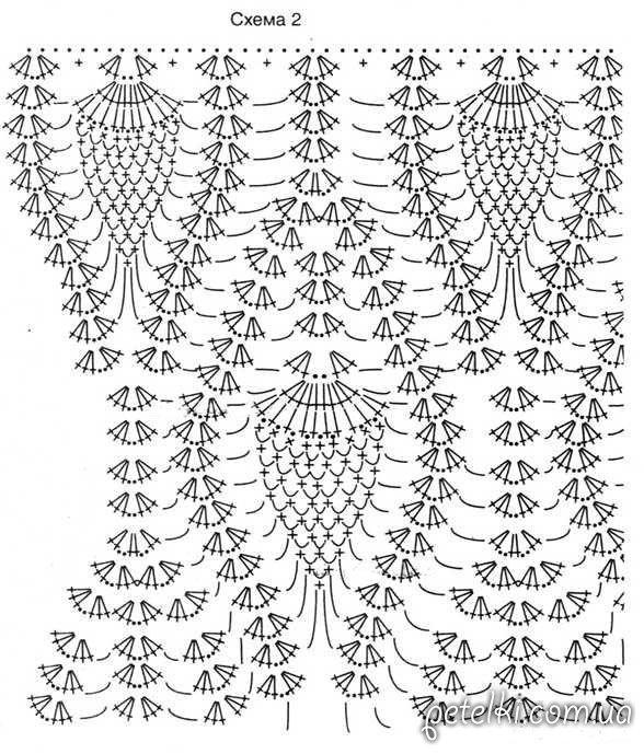 Вязание ажурного платья крючком схемы и 562