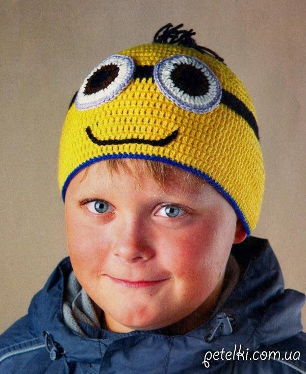 Детская шапочка Миньон - из м/ф Гадкий Я. Описание, схема