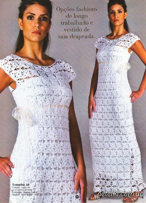 Платья вязание крючком с выкройкой