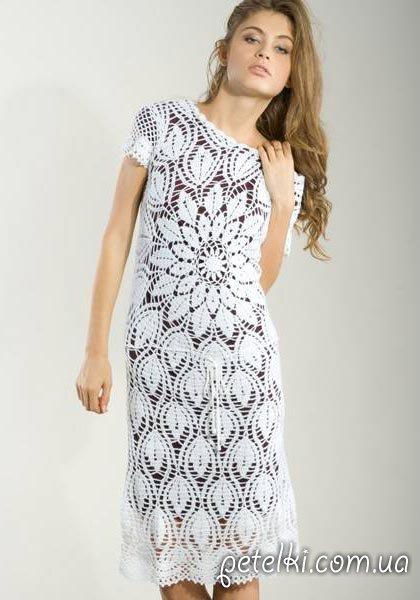 Круговое вязание узор для платья