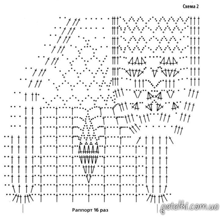 схема вязания зонта