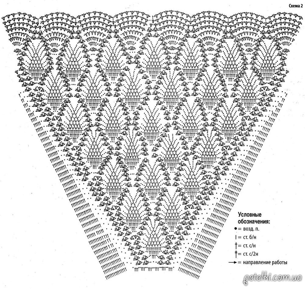 Крючок юбки ананас со схемами