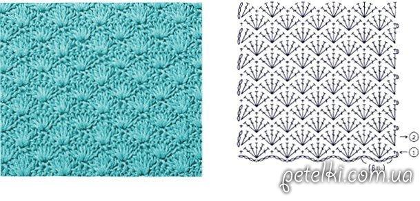 схема вязания трусиков купальника