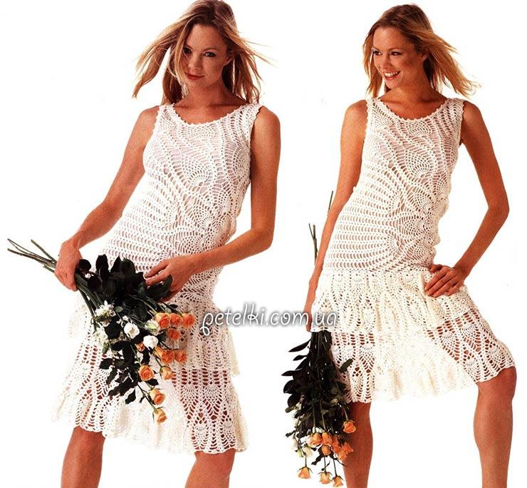 Асимметричное платье с