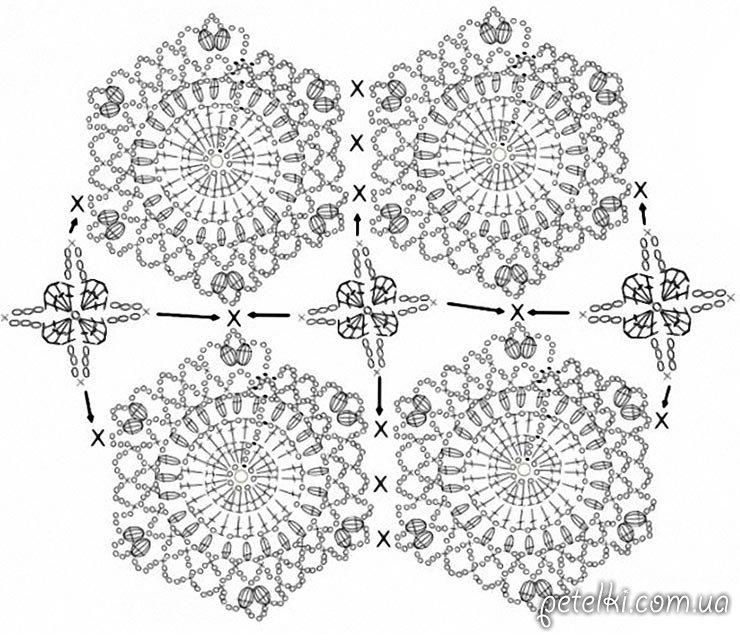 шорты крючком схемы