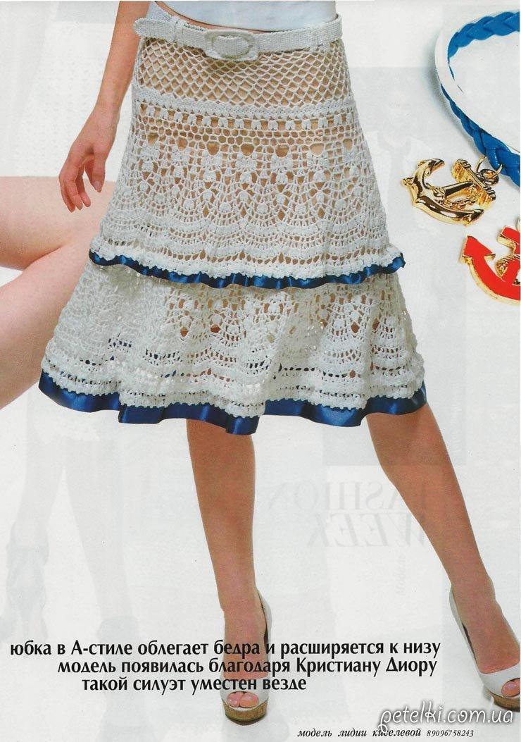 Схема юбки крючком от дольче габбана
