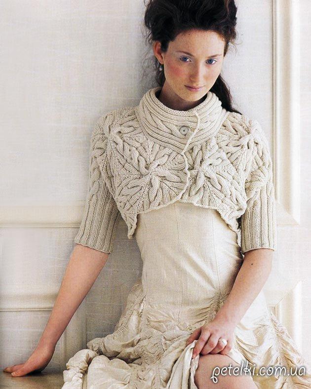 Болеро косами из Vogue. Описание на русском, схема