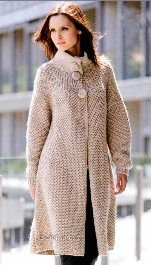 Классическое пальто бежевого