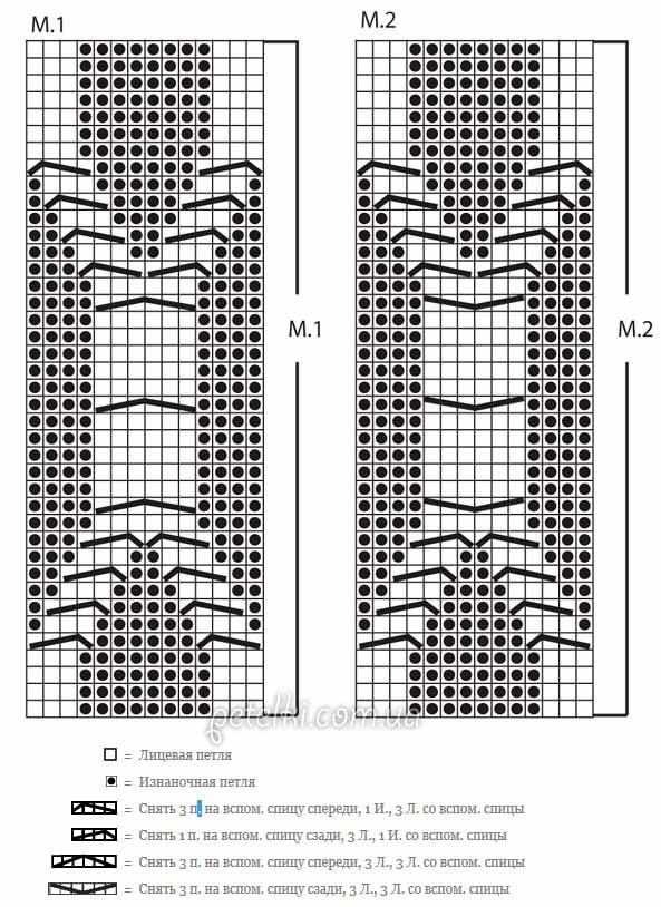 схема вязания леггинсов