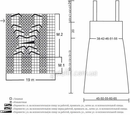 Схема вязания теплого сарафана 50