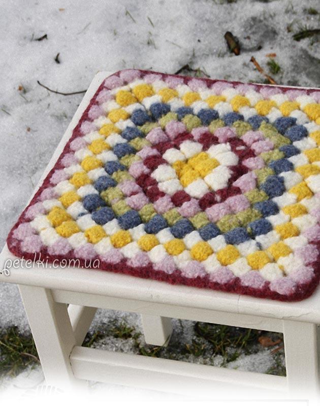 Вязание ковриков на стулья