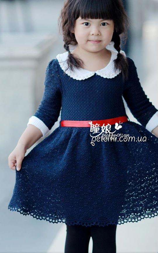 Красивое платье для девочки ТИХОНЯ. Схемы вязания крючком