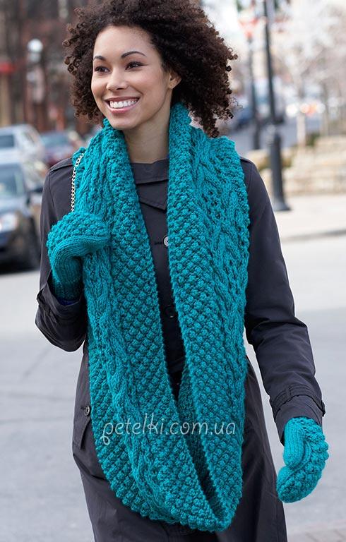 Схема шарф-снуд-жилет