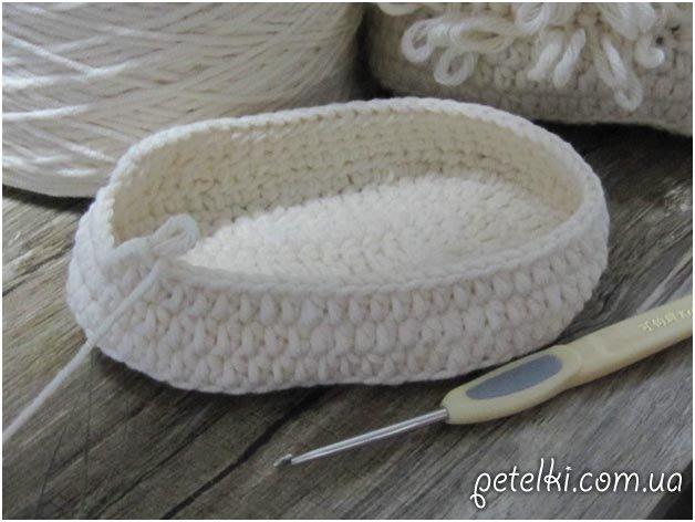 Вязание женских тапочек схемы