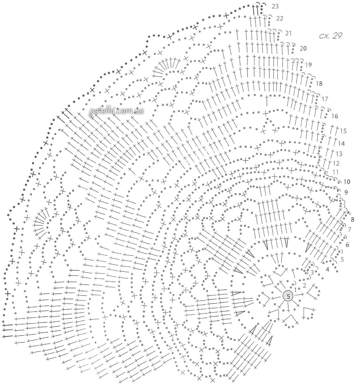 Болеро крючком со схемами фото 204