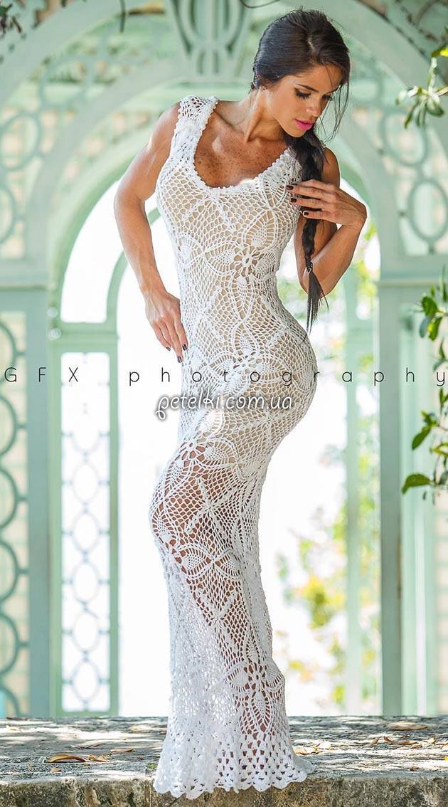 Шикарное платье из квадратных