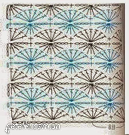 Схема вязания узора: