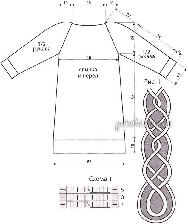 схема и выкройка платья