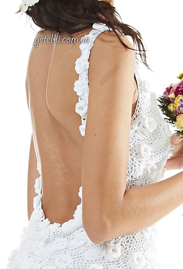 Красивое свадебное платье крючком. Схемы