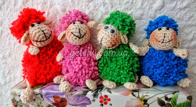 Вязаная овечка - символ 2015 года. Мастеркласс на видео