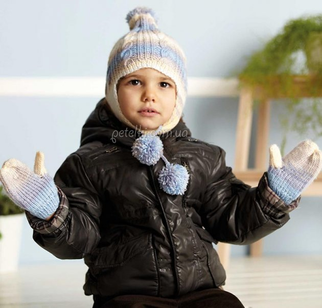 Шапка для мальчика или девочки на 2 - 3 - 4 года. Описание вязания
