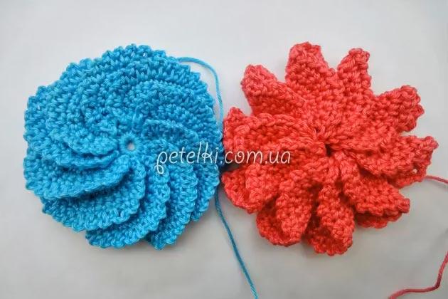 Спиральный цветок крючком схема фото 902