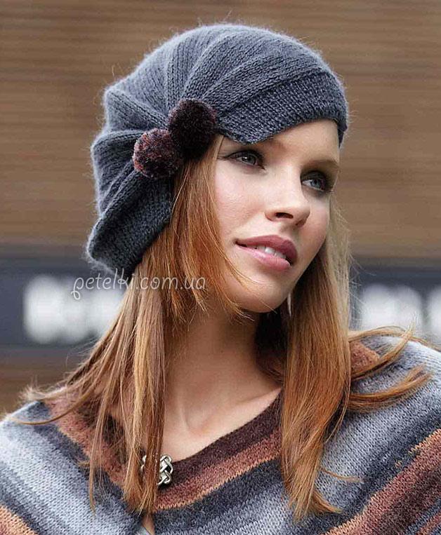 Интересная женская шапочка