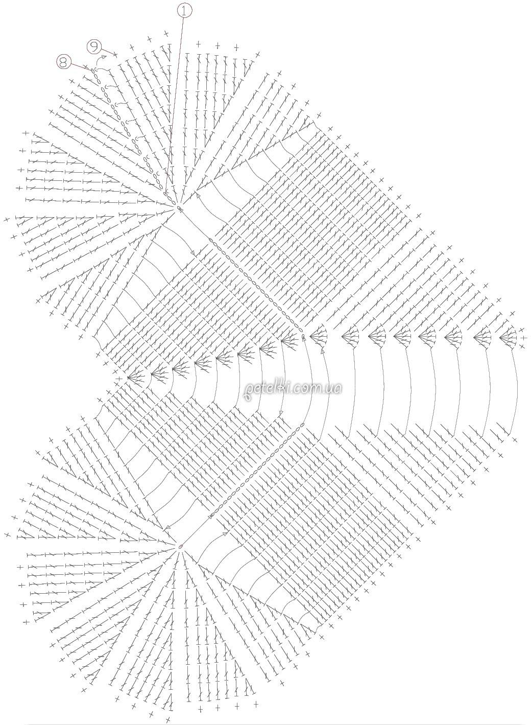 схема вязании сердечки