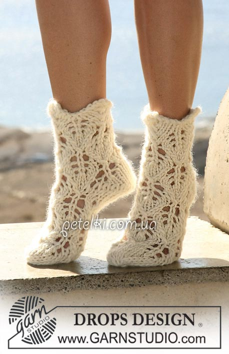 Ажурные носочки от Drops