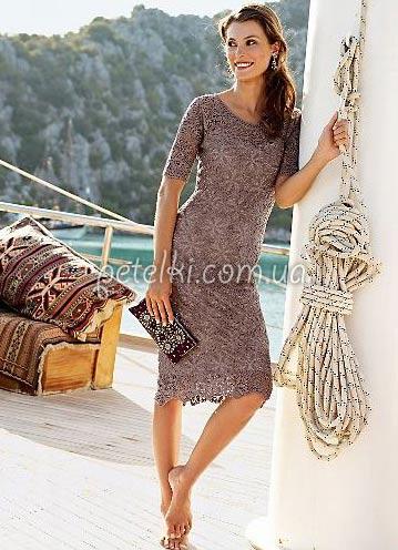 Красивый мотив для платья. Схема