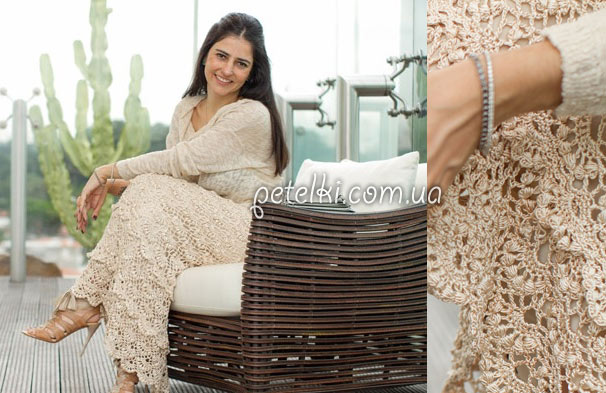 Платья и юбки вязание крючком
