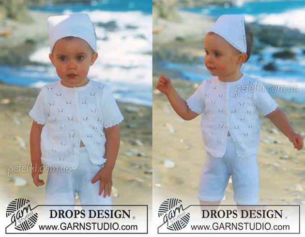 Летний комплект для малышей. Схемы вязания спицами