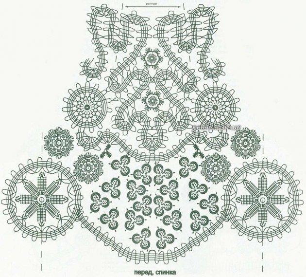 Вязание бюргерского кружева 85