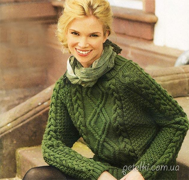 Красивые свитера спицами со схемами фото 339