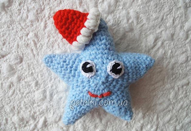 Рождественская звездочка крючком. Видеоурок