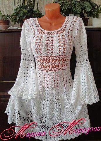Платье крючком от марины морозовой