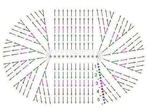 крючок двухцветные схемы