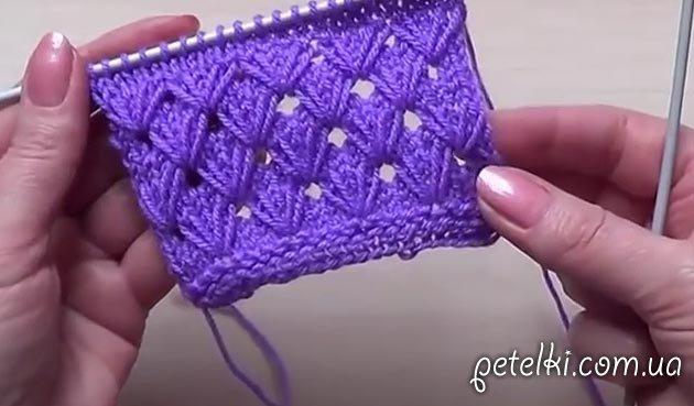 Видео уроки по вязанию спицами узоры для