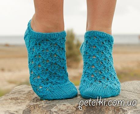 Летние ажурные носочки. Как вязать
